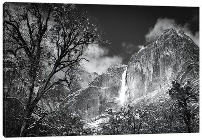 Yosemite Falls after a winter storm, Yosemite National Park, California, USA Canvas Art Print