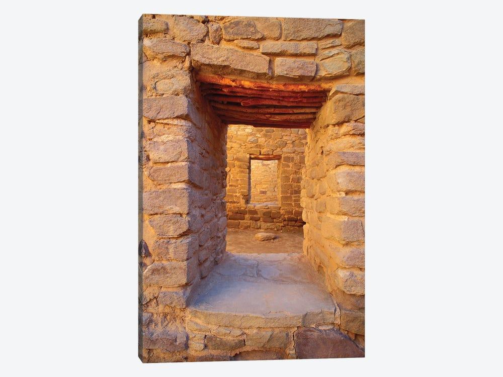 Interior doorways in the West Pueblo, Aztec Ruins National Monument, New Mexico, USA. by Russ Bishop 1-piece Canvas Artwork