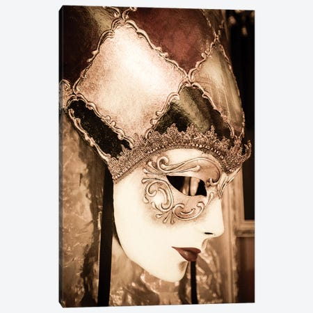 Carnival mask, Venice, Veneto, Italy Canvas Print #RBS5} by Russ Bishop Canvas Artwork
