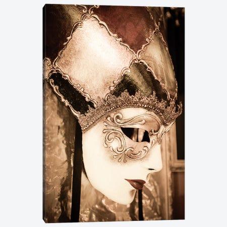 Carnival mask, Venice, Veneto, Italy Canvas Print #RBS5} by Russ Bishop Canvas Artwork