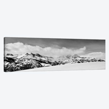Banner and Ritter Peaks in winter, Ansel Adams Wilderness, Sierra Nevada Mountains, California Canvas Print #RBS60} by Russ Bishop Art Print