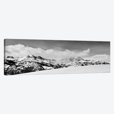 Banner and Ritter Peaks in winter, Ansel Adams Wilderness, Sierra Nevada Mountains, California Canvas Print #RBS60} by Russ Bishop Art Print