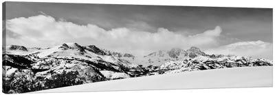 Banner and Ritter Peaks in winter, Ansel Adams Wilderness, Sierra Nevada Mountains, California Canvas Art Print