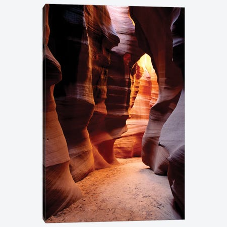 Delicate slickrock formations in upper Antelope Canyon, Navajo Indian Reservation, Arizona, USA Canvas Print #RBS69} by Russ Bishop Canvas Art Print