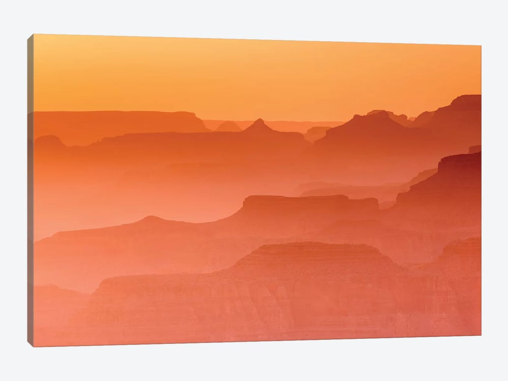 Evening light over the Grand Canyon, Grand Canyon National Park, Arizona, USA. by Russ Bishop 1-piece Art Print