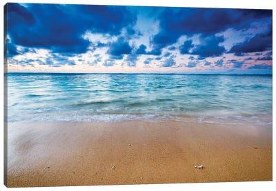 Evening light over the Pacific from Tunnels Beach, Kauai, Hawaii, USA. Canvas Art Print