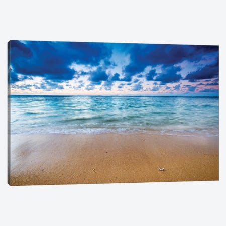 Evening light over the Pacific from Tunnels Beach, Kauai, Hawaii, USA. Canvas Print #RBS79} by Russ Bishop Canvas Art
