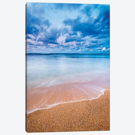Evening light over the Pacific from Tunnels Beach, Kauai, Hawaii, USA. Canvas Print #RBS80} by Russ Bishop Canvas Print