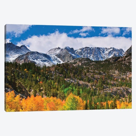Fall color and early snow at North Lake, Inyo National Forest, Sierra Nevada Mountains, California Canvas Print #RBS90} by Russ Bishop Canvas Artwork