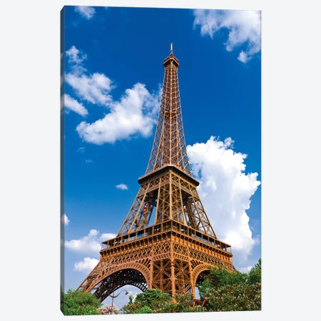 Eiffel Tower. Paris, France Canvas Print #RBS9} by Russ Bishop Art Print