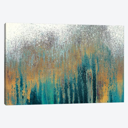 Teal Woods with Gold Canvas Print #RBT10} by Roberto Gonzalez Canvas Print
