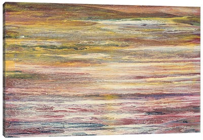 White Rapids at Sunset Canvas Art Print