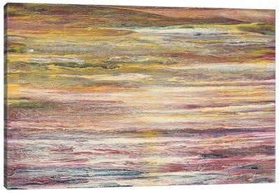 White Rapids at Sunset Canvas Art Print