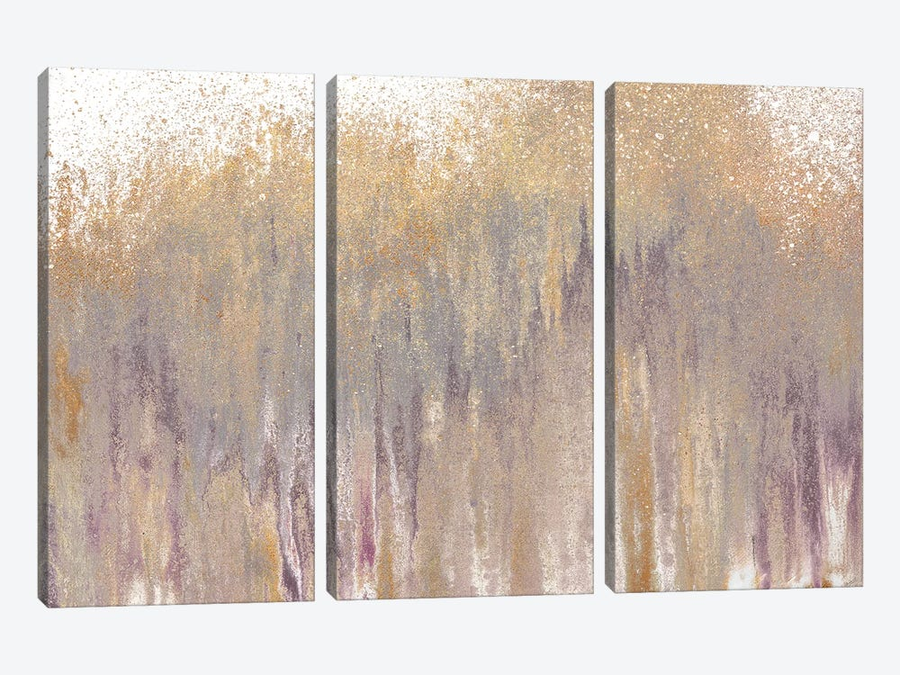 Rose Gold Expression by Roberto Gonzalez 3-piece Canvas Wall Art