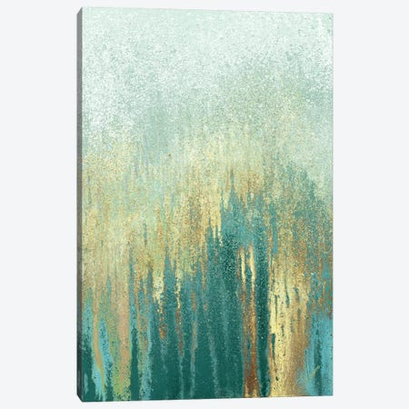 Teal Golden Woods Canvas Print #RBT8} by Roberto Gonzalez Canvas Art
