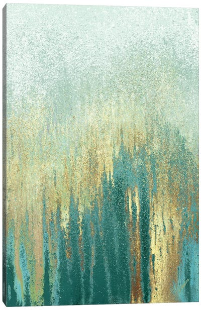 Teal Golden Woods Canvas Art Print