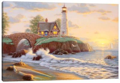 Lighthouse Point Canvas Art Print