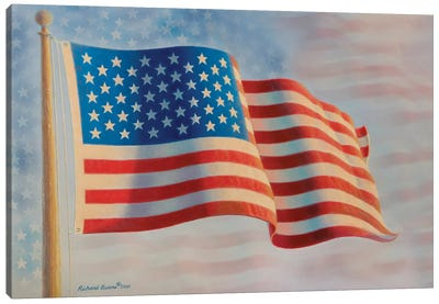 American Flag V Canvas Art Print