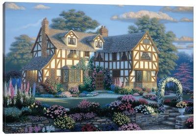 English Tudor Canvas Art Print