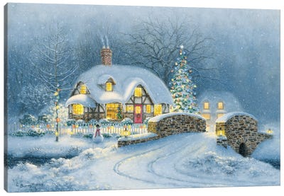 Christmas At Kirby Cottage Canvas Art Print