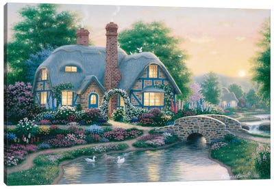 Drake's Cottage Garden Canvas Art Print