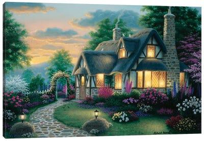 Austin Cottage Canvas Art Print