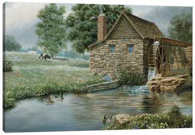 Country Mill Canvas Art Print