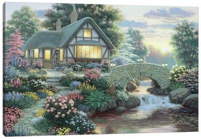 Serenity Cottage Canvas Art Print