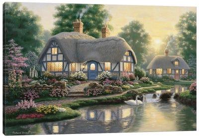 Great Cottage Walkway Canvas Art Print