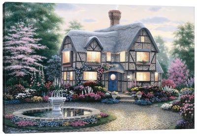 Freeman Cottage Fountain Canvas Art Print