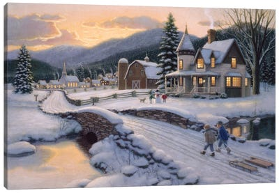Days End Canvas Art Print