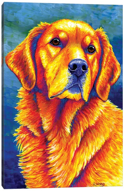 Faithful Friend - Golden Retriever Canvas Art Print
