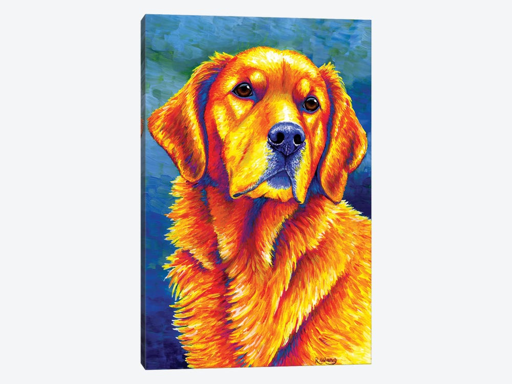 Faithful Friend - Golden Retriever by Rebecca Wang 1-piece Art Print