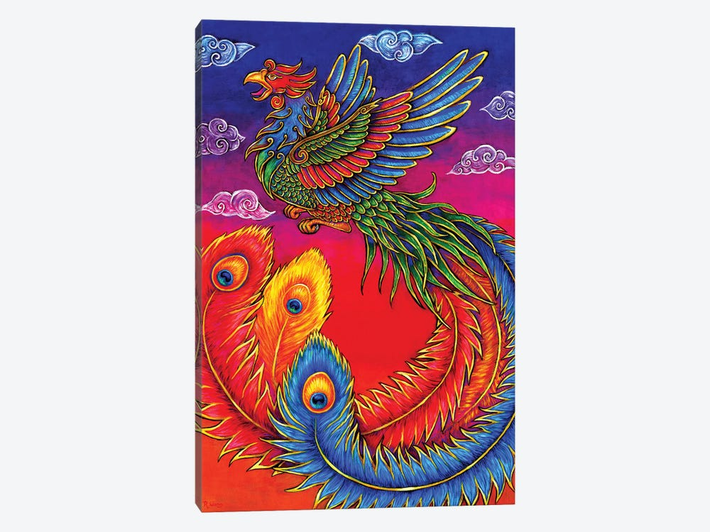 Fenghuang Chinese Phoenix by Rebecca Wang 1-piece Canvas Art