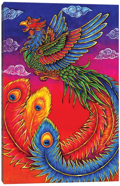 Fenghuang Chinese Phoenix by Rebecca Wang Canvas Art Print