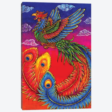 Fenghuang Chinese Phoenix Canvas Print #RBW12} by Rebecca Wang Canvas Art