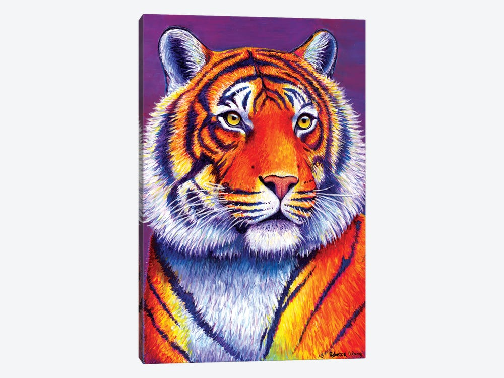 Fiery Beauty - Bengal Tiger by Rebecca Wang 1-piece Canvas Print