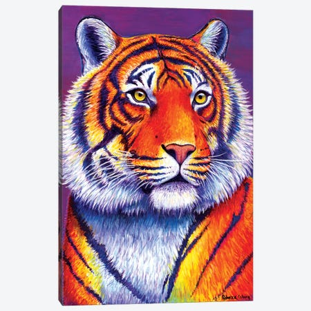 Fiery Beauty - Bengal Tiger Canvas Print #RBW13} by Rebecca Wang Canvas Wall Art