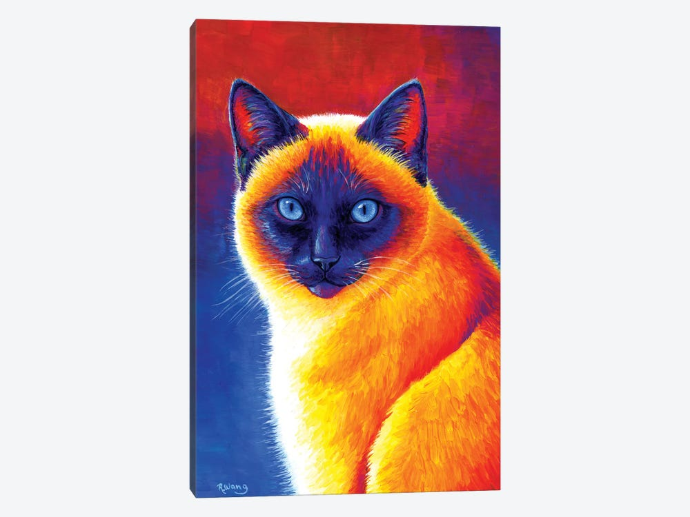 Jewel of the Orient - Siamese Cat by Rebecca Wang 1-piece Canvas Print