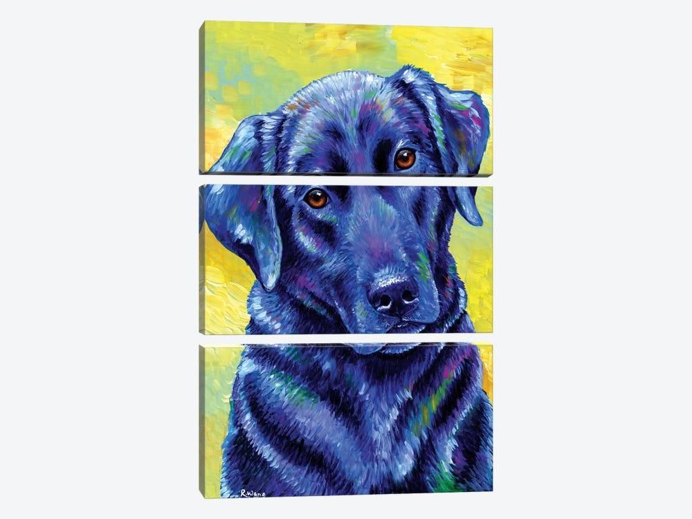 Loyal Companion - Labrador Retriever by Rebecca Wang 3-piece Art Print