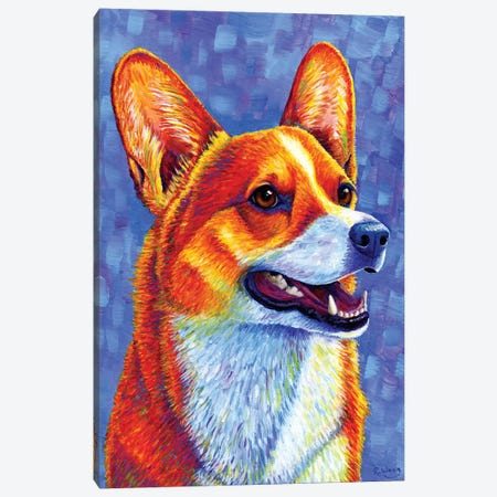 Mischief Maker - Pembroke Welsh Corgi Canvas Print #RBW20} by Rebecca Wang Art Print