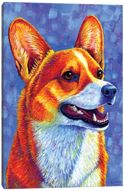Mischief Maker - Pembroke Welsh Corgi by Rebecca Wang Canvas Art Print