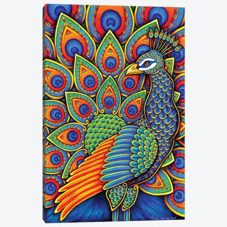 Paisley Peacock Canvas Print #RBW21} by Rebecca Wang Art Print