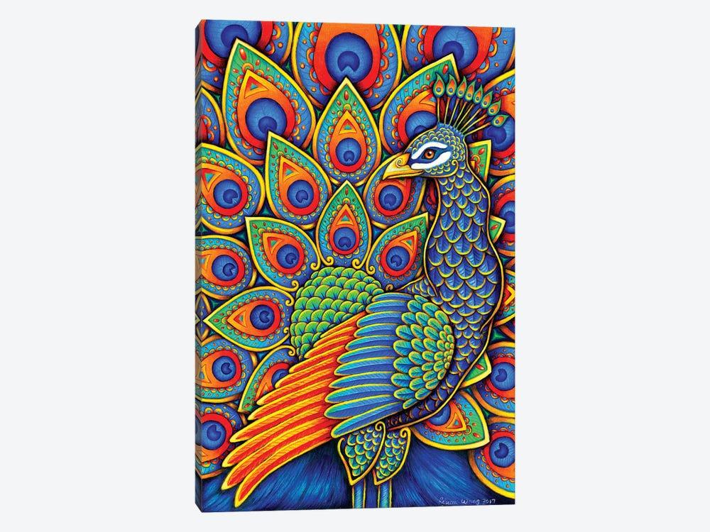 Paisley Peacock by Rebecca Wang 1-piece Canvas Artwork