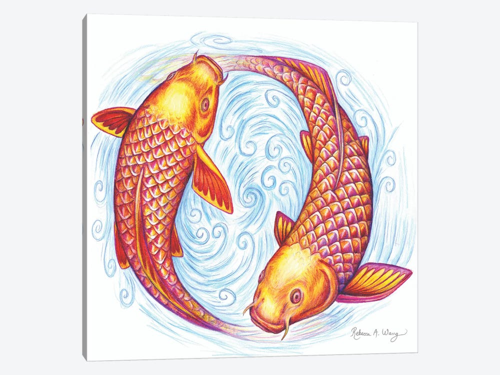 Pisces by Rebecca Wang 1-piece Canvas Print