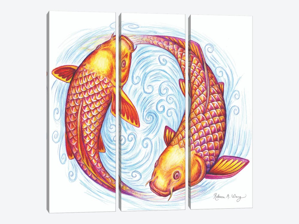 Pisces by Rebecca Wang 3-piece Canvas Print