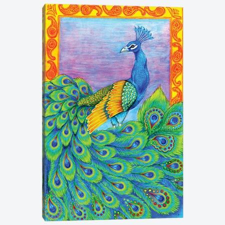 Pretty Peacock Canvas Print #RBW25} by Rebecca Wang Canvas Art