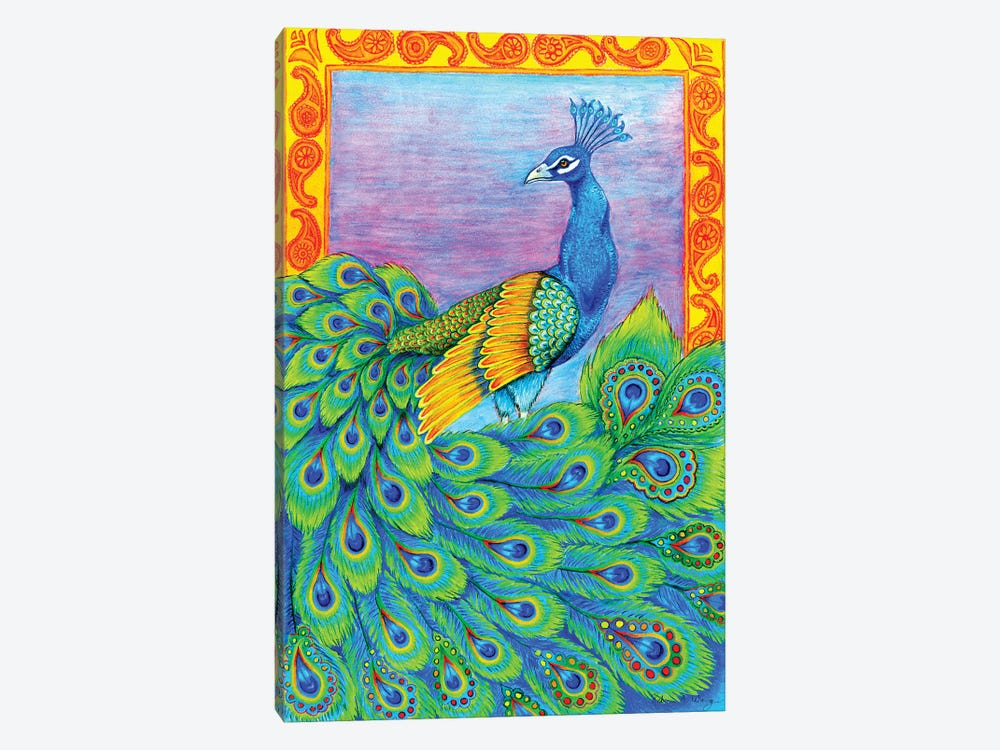 Pretty Peacock by Rebecca Wang 1-piece Canvas Art