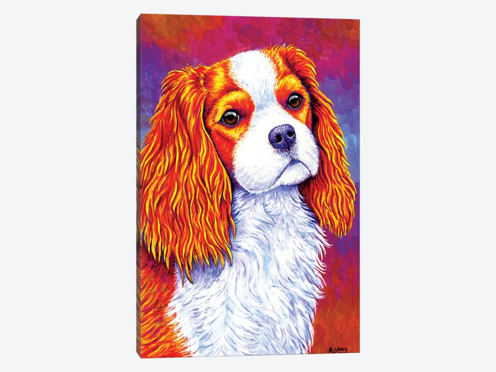 Autumn Delight - Cavalier King Charles Spaniel by Rebecca Wang 1-piece Art Print