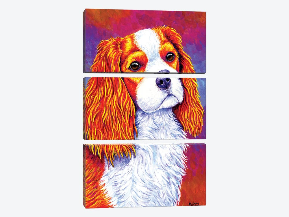 Autumn Delight - Cavalier King Charles Spaniel by Rebecca Wang 3-piece Art Print